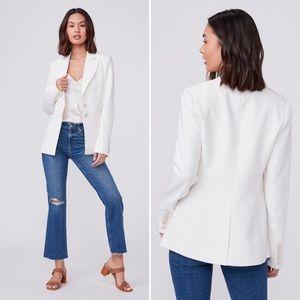 Paige Chelsee blazer jacket ecru off white M